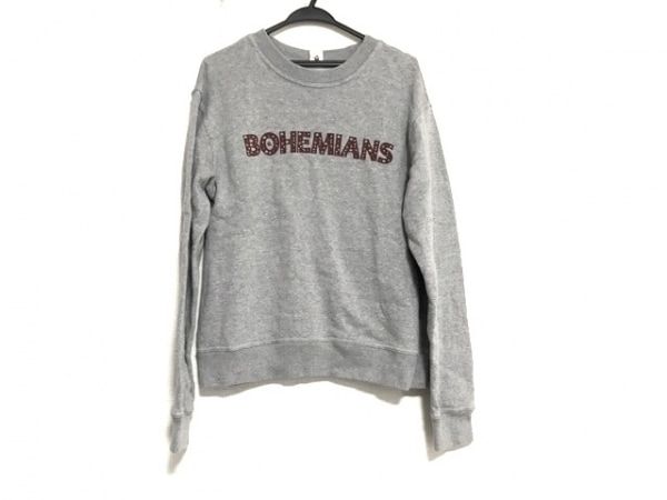 Bohemians(ボヘミアンズ) トレーナー サイズXS レディース美品  グレー×ボルドー