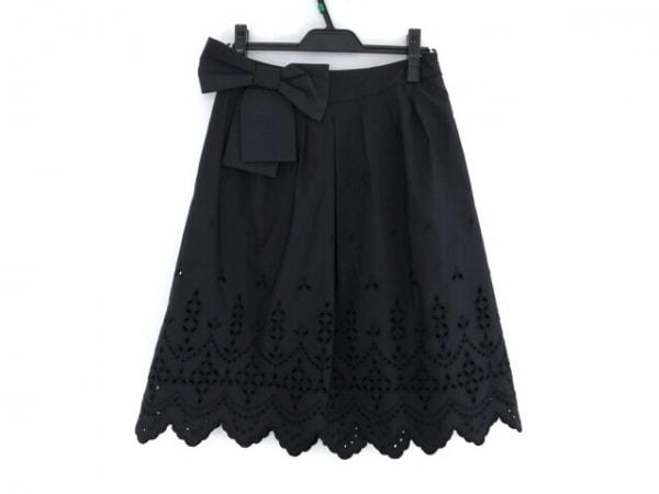 TO BE CHIC(トゥービーシック) スカート サイズ40 M レディース美品  黒 リボン