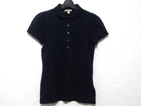 BURBERRY BRIT(バーバリーブリット) 半袖ポロシャツ サイズM レディース ネイビー