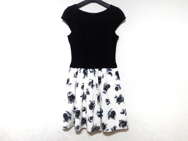 Rirandture(リランドチュール) ワンピース サイズ2 M レディース 黒×白×ブルー 花柄