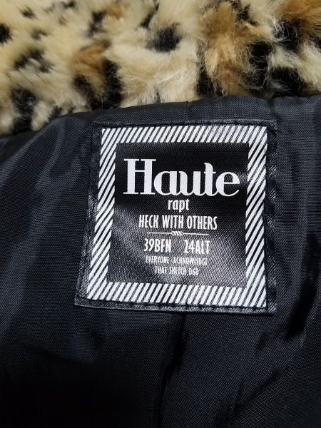 HAUTE(オート) ブルゾン サイズM レディース ベージュ×黒×ライトブラウン