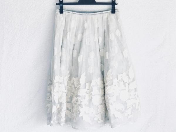 ロイスクレヨン スカート サイズM レディース アイボリー×ライトブルー ドット柄