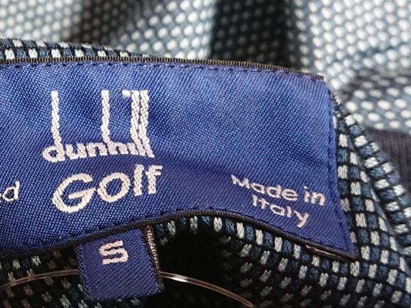 ダンヒル 長袖ポロシャツ サイズS メンズ ネイビー×ライトブルー Golf