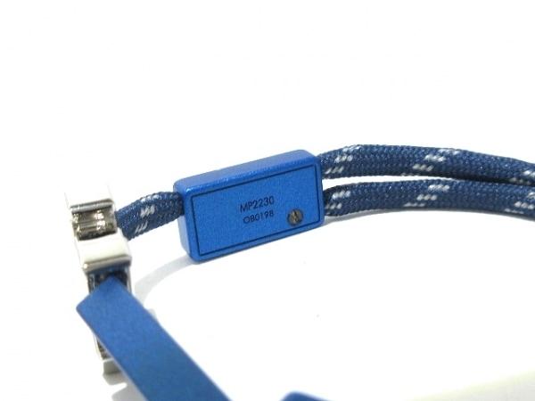 ルイヴィトン ブレスレット美品  LVサテライト MP2230 ナイロン×メタル ブルー