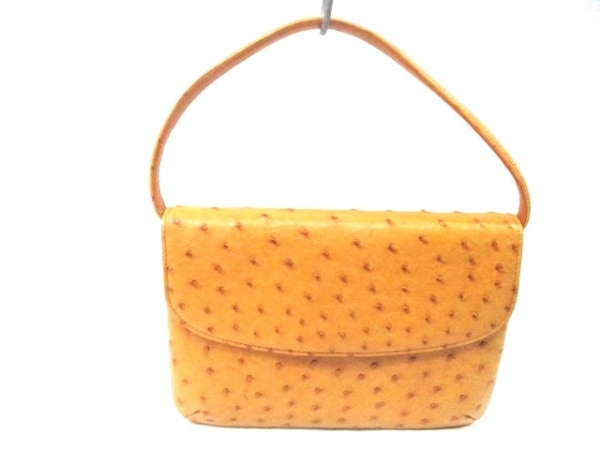 Takechi(タケチ) ハンドバッグ美品  ライトブラウン オーストリッチ