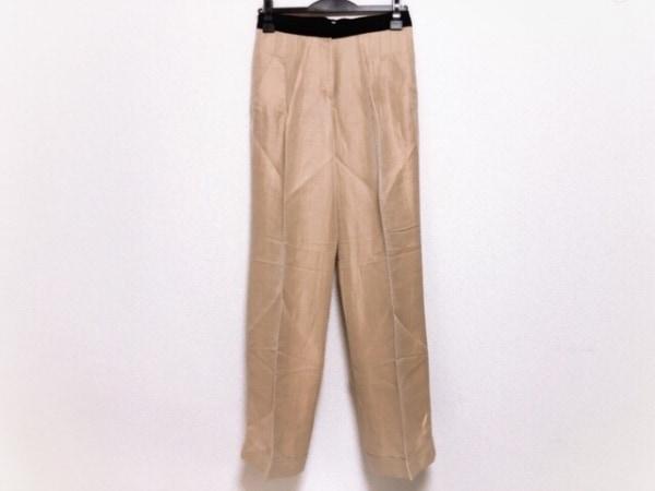 アルマーニコレッツォーニ パンツ サイズ40 M レディース ベージュ×黒