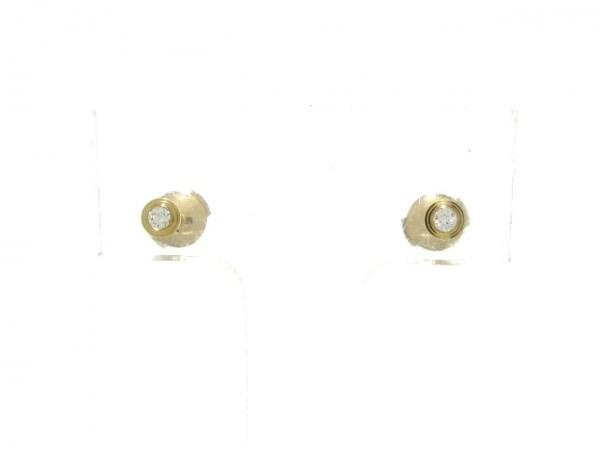 カルティエ ピアス新品同様  ディアマンレジェドゥ CRB8301214 K18PG×ダイヤモンド