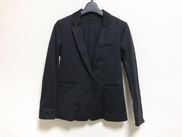 ステュディオス ジャケット サイズ0 XS レディース美品  黒 ジャージジャケット