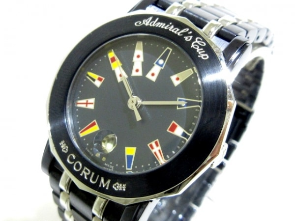コルム 腕時計 アドミラルズカップ 39 230 30 V585 レディース ネイビー×白×マルチ