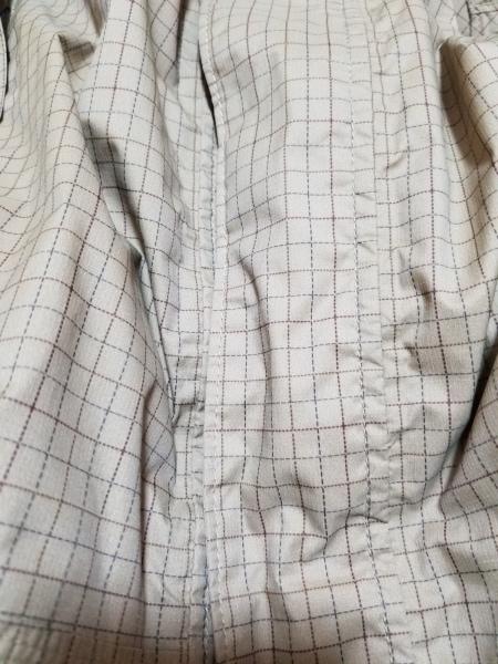 コロンビア ブルゾン サイズS メンズ美品  ベージュ×ブラウン チェック柄/春・秋物