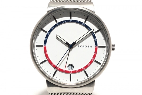 SKAGEN(スカーゲン) 腕時計 SKW6251 メンズ 白×ネイビー×レッド