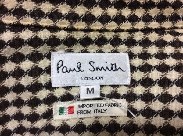 PaulSmith(ポールスミス) 長袖シャツ サイズM メンズ ベージュ×ダークブラウン