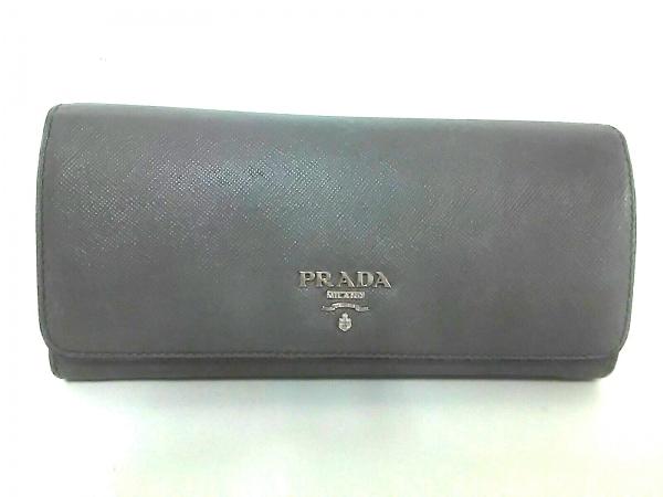 PRADA(プラダ) 長財布 - 1M1349 グレー レザー