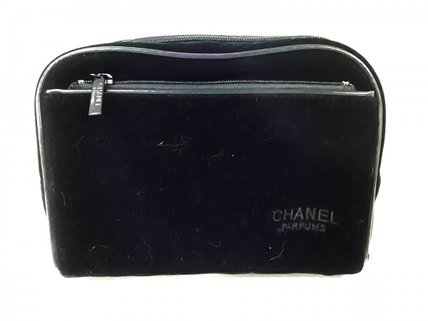 CHANEL PARFUMS(シャネルパフューム) ポーチ美品  黒 ベロア