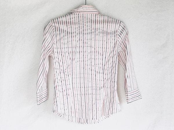 ナラカミーチェ 七分袖シャツブラウス サイズ0 XS レディース アイボリー×ピンク