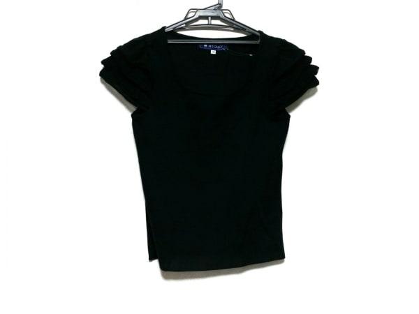 エムズグレイシー 半袖カットソー サイズ38 M レディース 黒 ニット/フリル