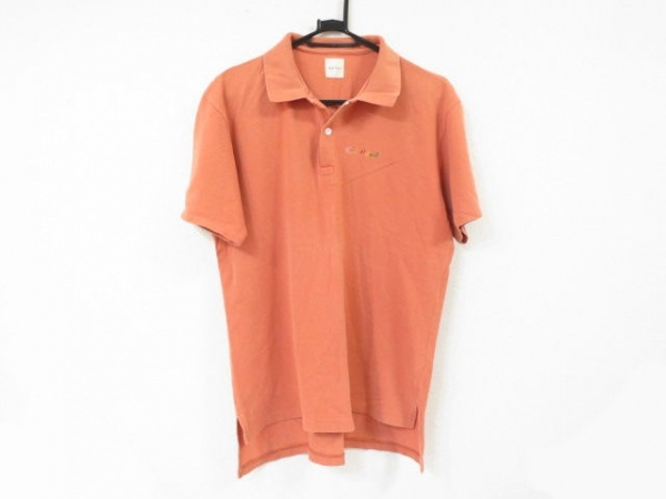 KarlHelmut(カールヘルム) 半袖ポロシャツ メンズ美品  オレンジ