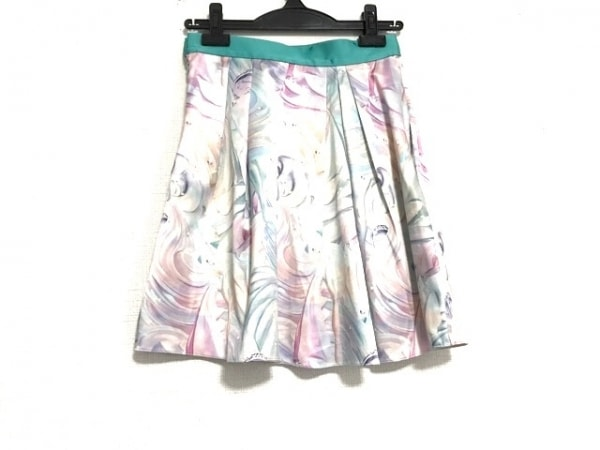 sretsis(スレトシス) スカート サイズ36 S レディース美品  ライトグリーン×マルチ