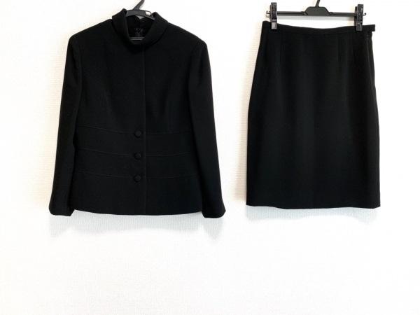HANAE MORI(ハナエモリ) スカートスーツ サイズ42 L レディース美品  黒 3点セット