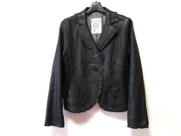 イオコムイオ センソユニコ ジャケット サイズ40 M レディース 黒×レッド×ベージュ