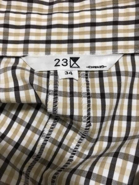 23区(ニジュウサンク) ワンピース サイズ34 S レディース美品  チェック柄