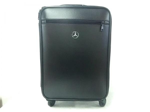 Mercedes-Benz(メルセデスベンツ) キャリーバッグ 黒 トロリーケース レザー