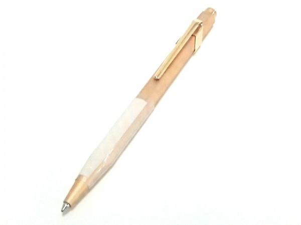 カランダッシュ ボールペン美品  ブリュットロゼ 849 ベージュ×ゴールド