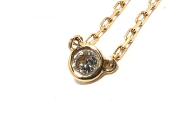 AHKAH(アーカー) ネックレス K18YG×ダイヤモンド 1Pダイヤ/0.06カラット