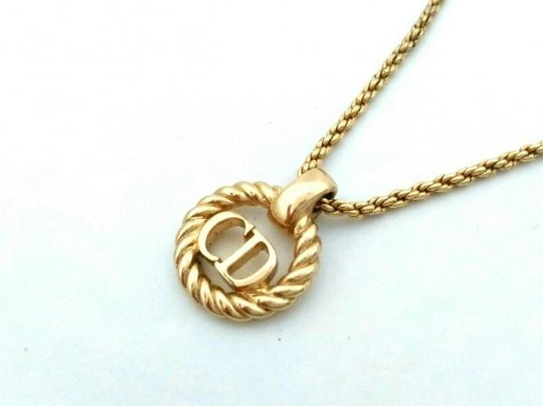 ChristianDior(クリスチャンディオール) ネックレス美品  金属素材 ゴールド