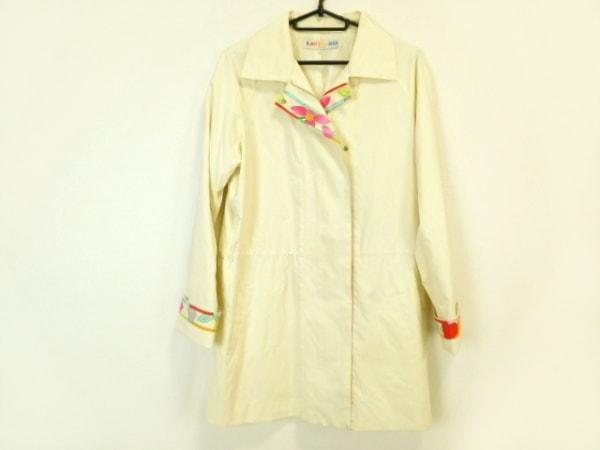 レオナール コート サイズ40 M レディース アイボリー×マルチ 春・秋物/SPORT