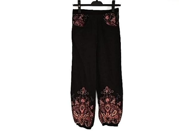 mash mania(マッシュマニア) パンツ サイズM レディース美品  黒×ボルドー×マルチ