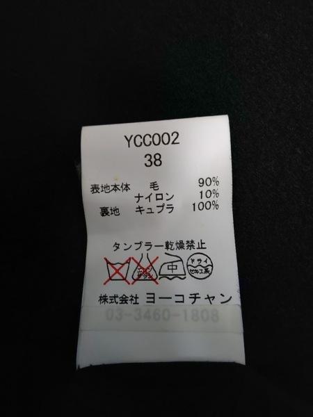 ヨーコ チャン コート サイズ38 M レディース YCC002 黒 バックギャザー/冬物
