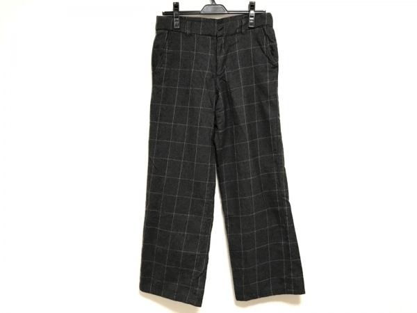 トゥジュー パンツ サイズ3 L レディース ダークグレー×ライトグレー チェック柄