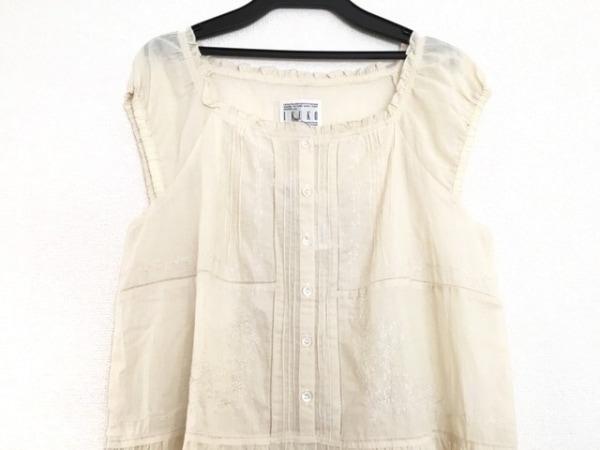 IKUKO(イクコ) ワンピース サイズ2 M レディース アイボリー 刺繍/透け感あり