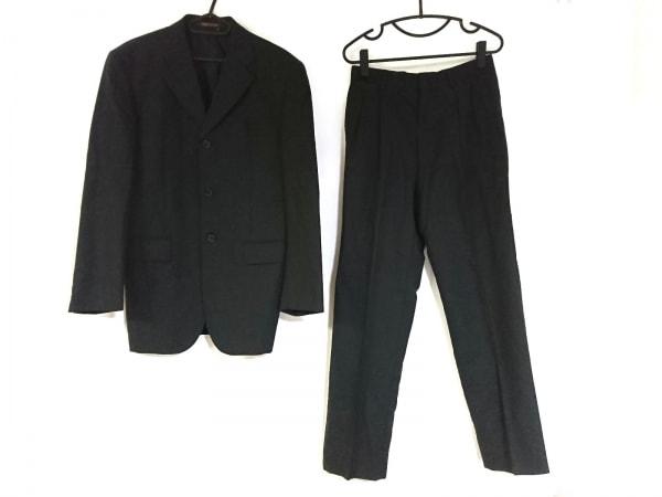 パーソンズ シングルスーツ サイズ  メンズ ダークグレー FOR MEN/ネーム刺繍