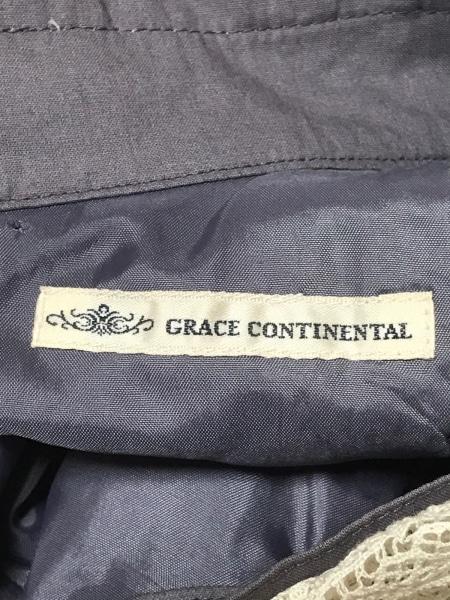 グレースコンチネンタル ワンピース サイズ36 S レディース グレー×アイボリー 刺繍