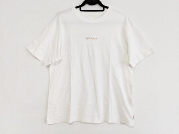カールヘルム 半袖Tシャツ サイズL メンズ アイボリー×ライトブラウン×マルチ