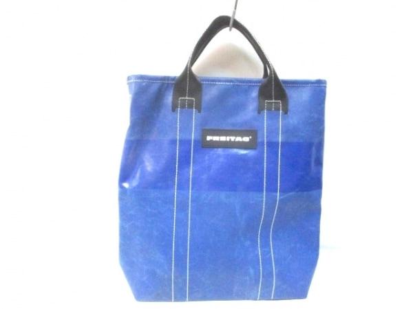 FREITAG(フライターグ) ハンドバッグ ブルー×黒 2WAY PVC(塩化ビニール)
