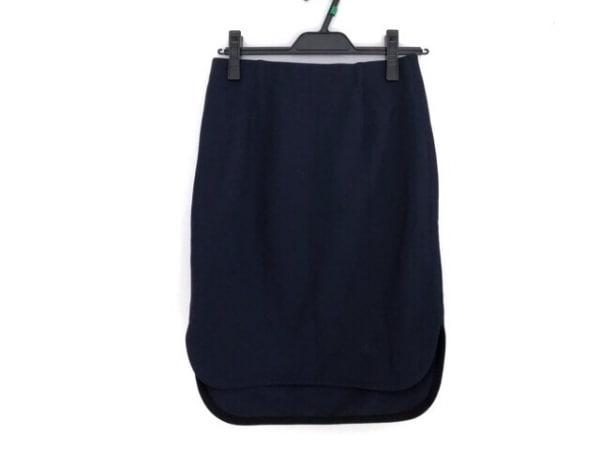 three dots(スリードッツ) スカート サイズS レディース ネイビー
