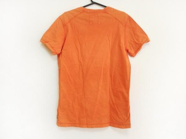 BELSTAFF(ベルスタッフ) 半袖Tシャツ サイズS メンズ オレンジ×アイボリー×黒