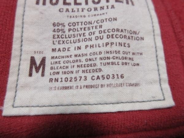 Hollister(ホリスター) ブルゾン サイズM レディース レッド ジップアップ