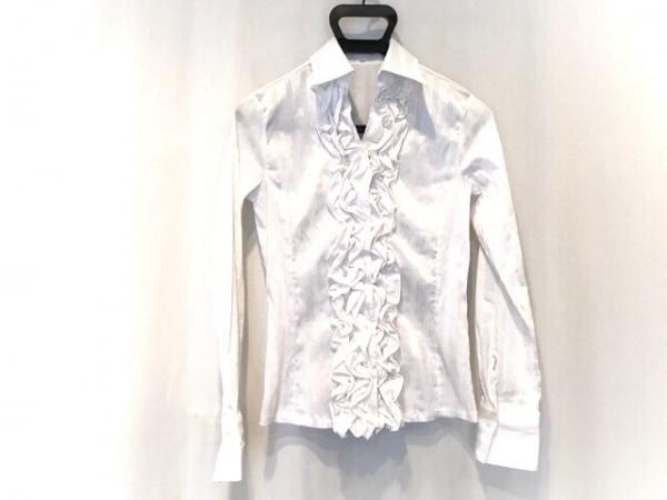 ナラカミーチェ 長袖シャツブラウス サイズ1 S レディース美品  白×シルバー