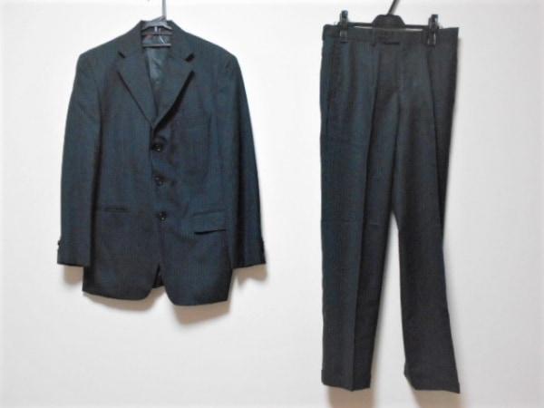 VISARUNO(ビサルノ) シングルスーツ サイズLL メンズ ダークグレー×ブルー