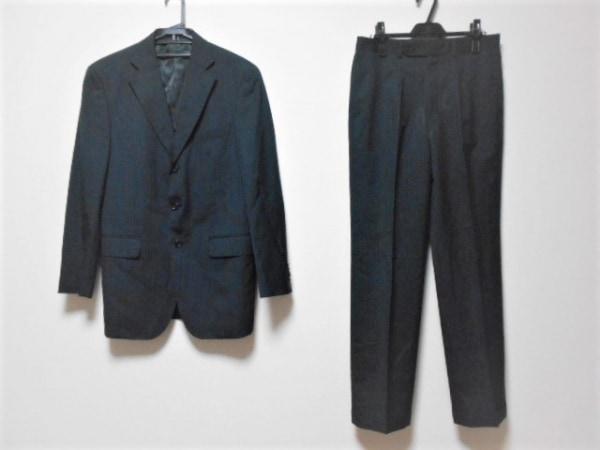 VISARUNO(ビサルノ) シングルスーツ サイズ3LL メンズ ダークグレー×ブルー