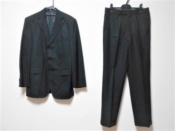 VISARUNO(ビサルノ) シングルスーツ サイズLL メンズ 黒×ライトブラウン×レッド