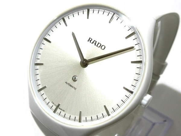 RADO(ラドー) 腕時計美品  トゥルー シンライン - レディース ラバーベルト シルバー