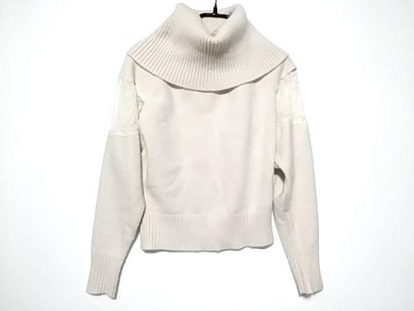 snidel(スナイデル) 長袖セーター サイズF  F レディース ピンク×アイボリー