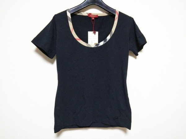 0a2b9349d7b3 バーバリーロンドン 半袖Tシャツ サイズ40 L レディース新品同様 チェック柄
