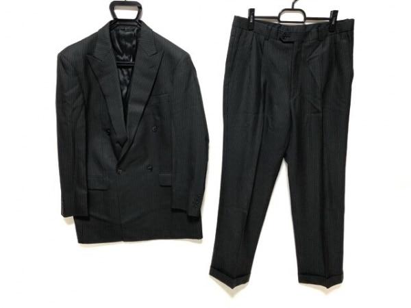 CERRUTI 1881(セルッティ1881) ダブルスーツ サイズ51 メンズ 黒×アイボリー