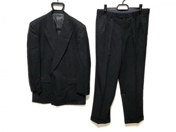 セルッティ1881 ダブルスーツ サイズ4 XL メンズ ダークグレー×ライトグレー